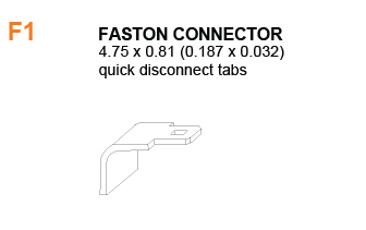 F1 - Battery Faston Connector Specifications