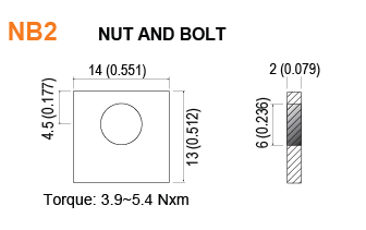NB2 - Nut and Bolt Battery Terminal Specifications
