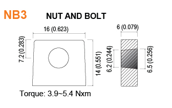 NB3 - Nut and Bolt Battery Terminal Specifications