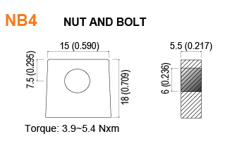 NB4 - Nut and Bolt Battery Terminal Specifications