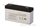 6 volts 1.2 amperes SLA Battery