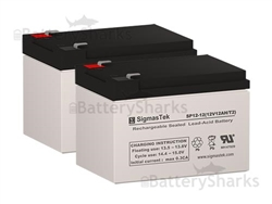 Set Of Two 12v 12ah Batteries Shipping Included