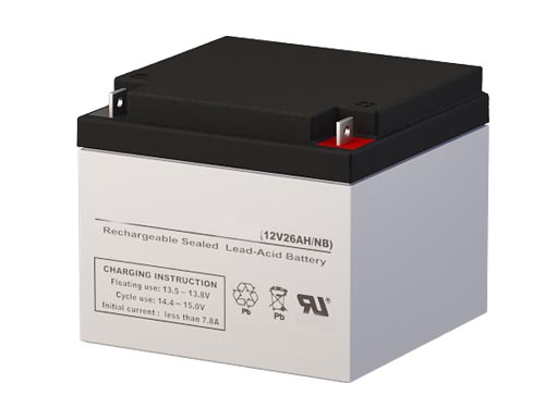 Batterysharks RT12280 12 Volt 26 AmpH SLA Replacement Battery with NB Terminal