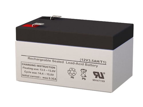 Batterysharks FG20341 12 Volt 3.5 AmpH SLA Replacement Battery with F1 Terminal