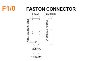 F1/0 Battery Faston Connector Specifications