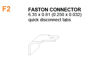 F2 - Battery Faston Connector Specifications