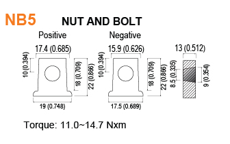 NB5 - Nut and Bolt Battery Terminal Specifications