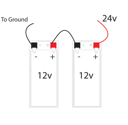 Battery - Series to ground