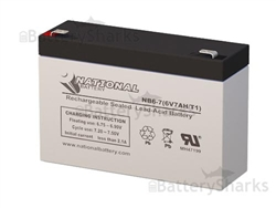 Nb6 7 National Battery Replacement Sla Battery 6v 7ah