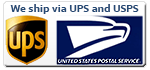 We ship via UPS and USPS